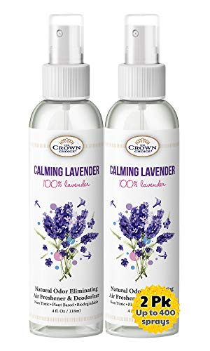 Aromatherapy Spray - Lavender Essential Oil Sprays (2PK) - Long-Lasting, Natural, Non-aerosol, Environmentally Friendly air freshener Spray Relaxes and Calms - Neutralizes Odor