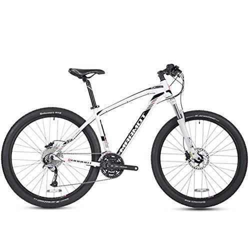 CWZY Mountain Bike a 27 velocità, 27,5 pollici Big Wheels Hardtail Mountain Bike, adulti donne e uomini telaio in alluminio All Terrain Mountain Bike, bianco, bianco