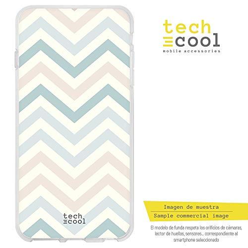 Funnytech® siliconen beschermhoes voor Xiaomi Redmi Note 4 [siliconengel, flexibel, exclusief design] Zig Zag kleurtinten blauw roze
