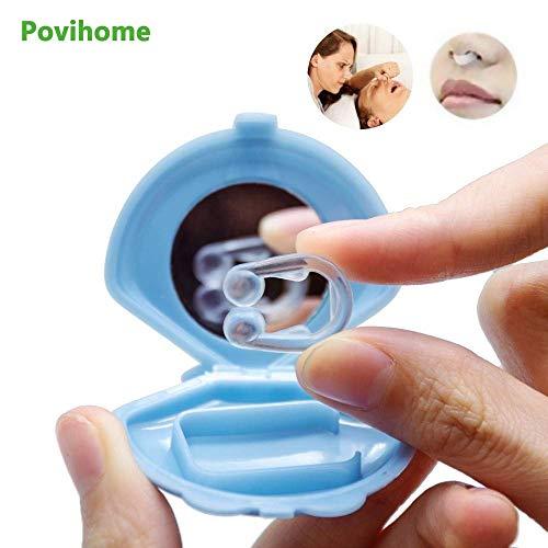 MWyanlan Silicona Anti Ronquidos Dilatador Nasal Detener ronquidos Clip de Nariz Alivia la apnea del sueño y la congestión Nasal- A
