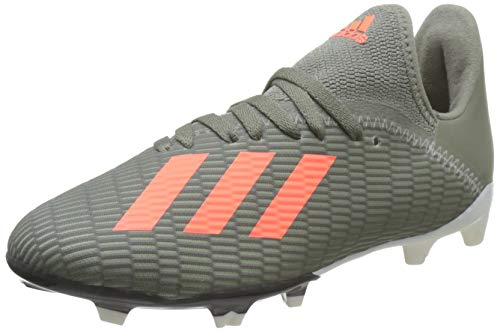 adidas X 19.3 FG J, Zapatillas de Fútbol para Niños, Verde (Legacy Green/Solar Orange/Chalk White Legacy Green/Solar Orange/Chalk White), 30 EU