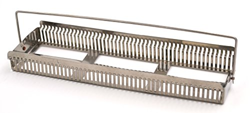 Aluminum Staining Rack with Handle for 50 Slides - Eisco Labs