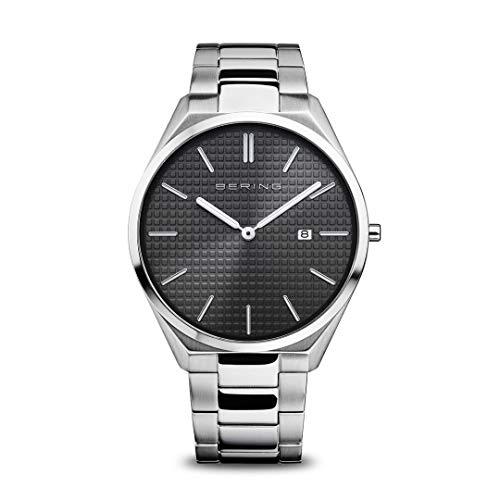 Bering Reloj analógico de cuarzo para hombre con correa de acero inoxidable 17240-702