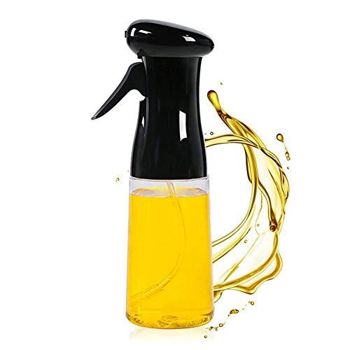 Pulverizador de aceite de oliva, spray de aceite para cocinar, barbacoa, cocción, hornear, asar, asar, barbacoa, ensalada, freír, cocina (8 oz)