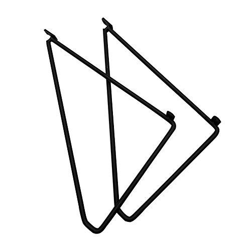 Hyllkonsol smidesjärn triangel, en uppsättning av 2, guld/vit/svart, med skruvar, för gör-det-själv öppna hyllor badrum vardagsrum kök