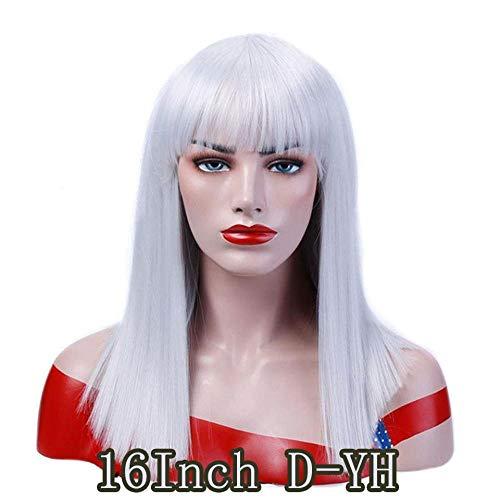 Pouces perruques de cheveux blonds droits pour les femmes noires Mesdames dames résistantes à la chaleur synthétique longue perruque blonde synthétique, D-YH_26inches