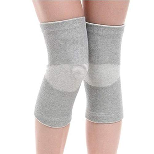 Ultradünne elastische Kniebandage aus Bambuskohlefaser, für Outdoor-Sport, Volleyball, Basketball, Tanzen, Radfahren, Klettern, Yoga, Größe M