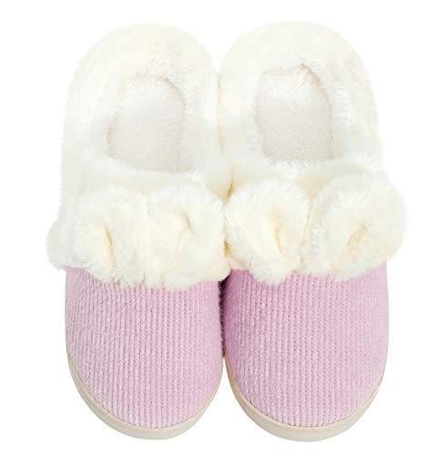 Komyufa lindas orejas conejo zapatillas mujer espuma viscoelástica suave antideslizante cómodo cálido...