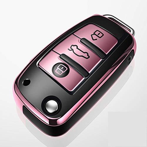 ZHHRHC Funda para Llave de Coche, para Audi a1 a3 a4 a5 a6 a7 a8 Quattro q3 q5 q7 r8 allroad c5 c6 T