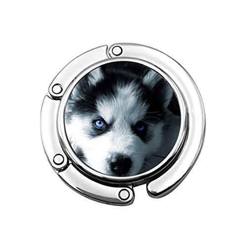 Puppy Husky - Gancho para Monedero Plegable para Bolso, Ganchos para Escritorio para Monedero, PC
