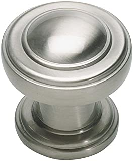 Lola &Company - 1-1/4 in. (28mm) Bronte Round Cabinet Knob - Brushed Nickel - 10 Pack