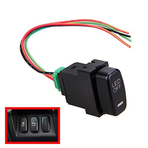 Interruptores de coche y relés 12 V coche LED niebla luz bar empuje Rocker interruptor encendido/apagado para Mitsubishi Pajero Lancer