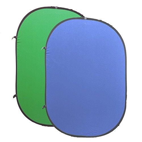 Greenscreen Falthintergrund für Chromakey Effekte - 150 x 200 cm
