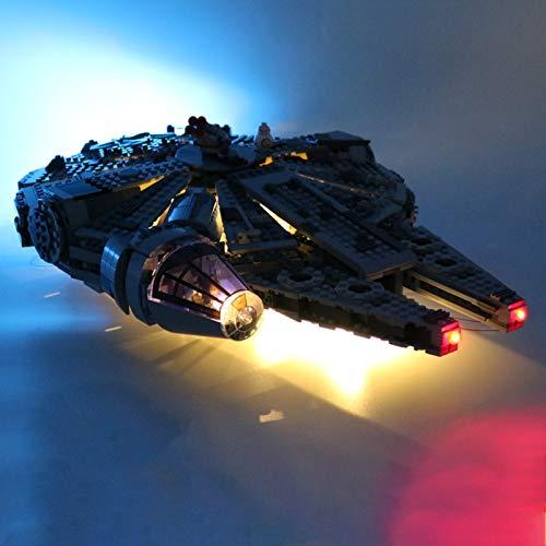 iCUANUTY Kit de Iluminación LED para Lego 75105, Kit de Luces Compatible con Millennium Falcon (No Incluye Modelo Lego)