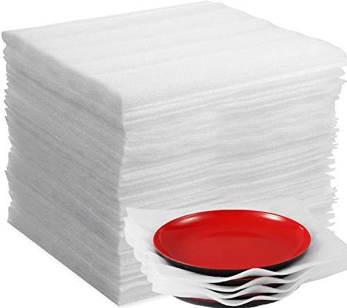 Schaumfolie Verpackungsmaterial 100Stk Luftpolsterfolie Umzugsmaterial für Kartons Umzug Geschirr Gläser Weinflaschen Versand 300 mm * 300 * 1mm