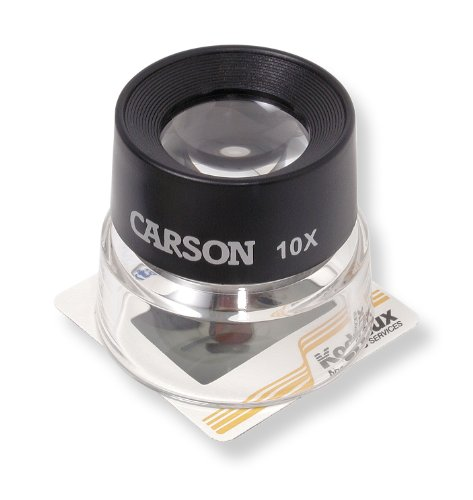Carson - Lupa de contacto lumiLoupe de 10x, negro transparente
