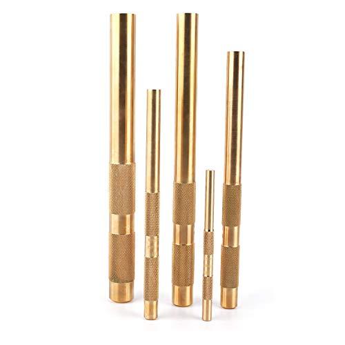 Knurled Brass Drift Punch Set (5 Piece)