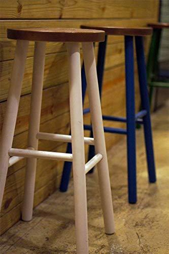 Wood bench Atmosphärische Mode Bar Stuhl/Hocker, praktische Esszimmerstuhl, Hohe Holzbank,Blau