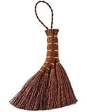 オカ(OKA) 手ほうき 棕櫚箒 ミニサイズ(コンパクト シュロ) ブラウン 約11cm×14cm×2cm 4971242952814