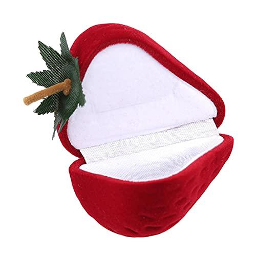 Anchang - Caja de joyería de viaje para boda, anillo de compromiso