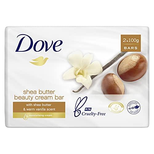 Dove Beauty Soap Bar Shea Butter Vanilla, 2 x 100g