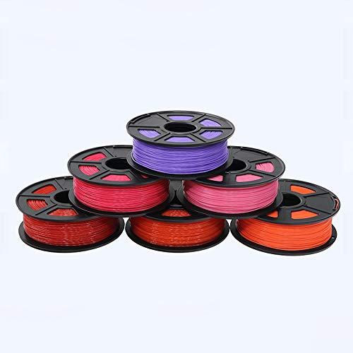 3d Accessoires imprimante MDYHJDHYQ Le filament 3D ABS de filament 1.75 multicolore en plastique de 1kg de bobines filament 1.75 le filament d'imprimante 3D Impressora Accessoires imprimante 3d MDYHJD