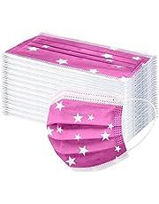 N-B 10-100 Pcs Niños Tela de 3 Capas Rosa Dibujos de Estrella Filtros de Alta Densidad 2021 Industrial Cómodo Niño Chica de 3-12 Años Bufanda