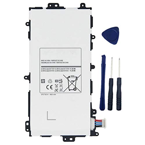 YNYNEW replacement Tablet battery SP3770E1H for Samsung Galaxy Note 8.0 GT-N5110 N5100 N5120 N5110 GT-N5100 GT-N5110 GT-N5120 Series SGH-I467 SGH-I467ZWAATT 3.75V With Free Tools