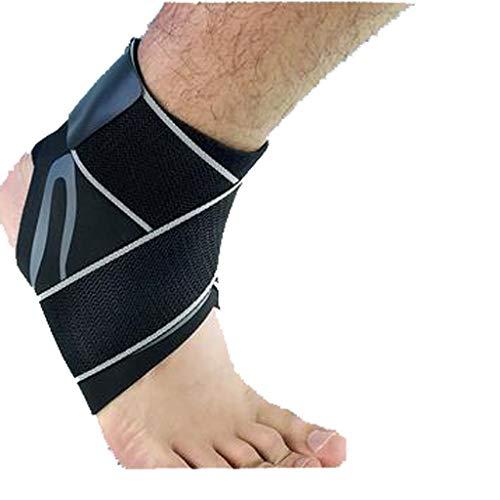 Soporte de articulación HXF para tobillo con protección fija para esguinces, profesional, masculino y femenino, equipo protector transpirable, nailon, Actualizar a la izquierda, 22-23cm
