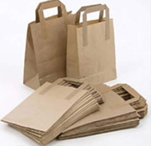Packitsafe - Bolsas papel marrones mango