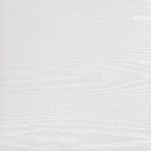 Rohr-Trading.SURFACES Selbstklebende Folie I Tapete I Klebefolie für Möbel Küche & Deko I Möbelfolie I Küchenfolie I Holzfolie I Fototapete I Holz/Holzoptik/Holzdekor Weiß - Whitewood [800 x 45cm]