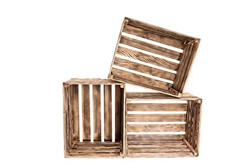 Incendiar Caja Madera - Home Decoracion - Caja Para Vino - Cajita Grande 50 X 40 X 30 - Vintage Decorar - Storage Box(3)