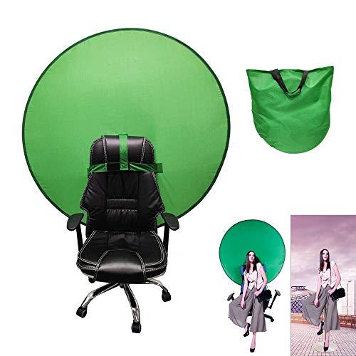 juxia Greenscreen Stuhl, Faltbar und Einfach Zu Speichern Remote Arbeit Greenscreen Hintergrund, Green Screen Chair für Fotografie Video Hintergrundsystem Modefotografie (L)