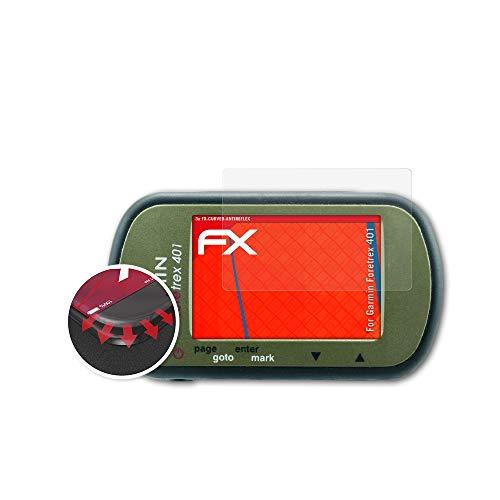 atFoliX Schutzfolie kompatibel mit Garmin Foretrex 401 Folie, entspiegelnde und Flexible FX Displayschutzfolie (3X)