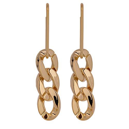 Multa Pendientes Largos geométricos de Metal de Oro Joyas de Cobre Moda Textura Nuevo diseño Damas Pendientes de Regalo para Mujeres niñas (Metal Color : A1)