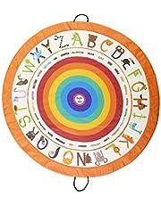 Poema & Rosa Oyun halısı ve oyuncak saklama çantası |140 cm. çap | Çocuk yer halısı: öğrenirken eğlenir | İplerinden çekerek toplanır ve oyuncak, kitap vb. ürünlerin organize edilmesini kolaylaştırır (Alfabe)