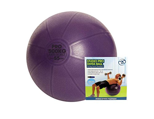 Fitness-Mad Studio Pro Balle suisse et pompe500 kgViolet65 cm