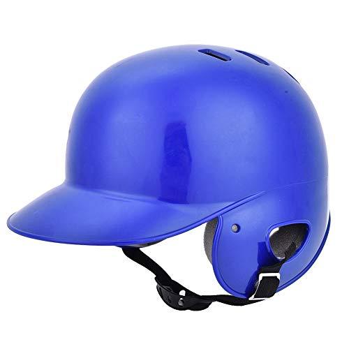 EVTSCAN Equipo de protección de Casco de bateo de béisbol Deportivo con Correa para niños Adultos y Adolescentes, Carcasa de ABS Resistente a Alto Impacto, 3 Colores(Blue)