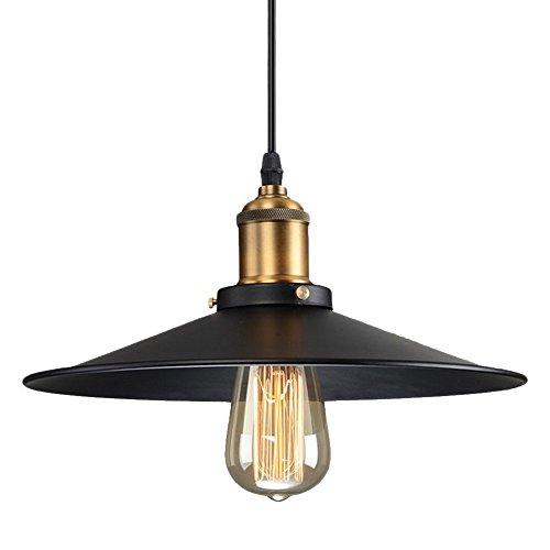 Lightess Lampada a Sospensione Industriale Lampadario Vintage Edison Lampada Pendente E27 per Cucina Ristorante Bar