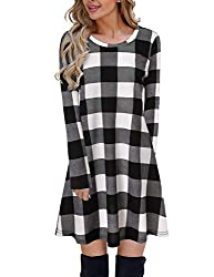 DESIGN: This gorgeous little plaid dress is sure to make a statement all season long! It features a bold black, charcoal, and white plaid for a stylish and chic combination! The knit material has a slight texture to it and is perfect for chilly fall ...
