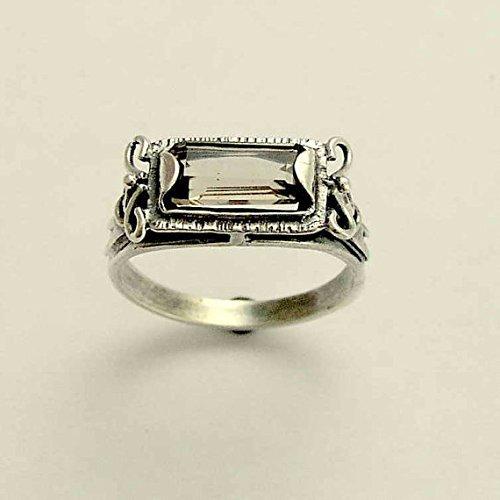 Smoky ring,Gemstone ring,Birthstone ring,Handmade ring,Statement ring,Silver ring