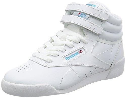 Reebok F/S Hi, Zapatillas de Deporte para Niñas, Blanco (White/Lt. Blue/Int'L), 31 EU