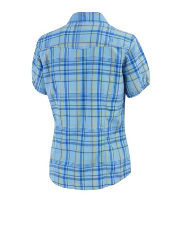 Maier Sports Hanass Chemise à Manches Courtes Femmes X-Large Bleu - Light Blue/Yellow Check