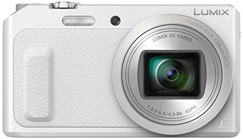 Panasonic Lumix DMC-TZ57EG-W Fotocamera, Sensore MOS 16MP, Zoom Ottico 20x, Video Full HD, Wink Detector, Wi-Fi Certified, Bianco
