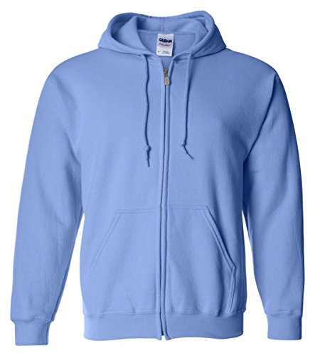 Gildan 18600 - Classic Fit Adult Full Zip Hooded Sweatshirt Heavy Blend - First Quality - Carolina Blue - 2X-Large