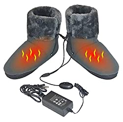 ObboMed MF-2320L Far Infrared Carbon Fiber Heated Foot Warmer/Boots/Slipper, 12V 20W – Far Infrared wavelength 8-15 ?m (Health Range: 4-14 ?m), Auto Off, Size L: #45.5 (fits Foot up to 45.5)