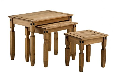 Corona Nest of Tables Mexican Solid Pine