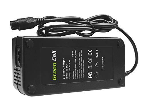 Green Cell® Ladegerät Netzteil (29.4V 4A 117W) für Whistler Xplorer Yamaha Zündapp E-Bike Li-Ion Akku Batterie (3 pin Stecker)