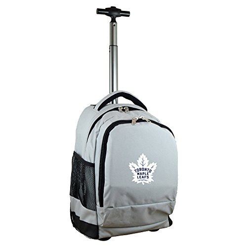 Denco NHL Toronto Maple Leafs Wheeled Backpack, 19-inches, Grey