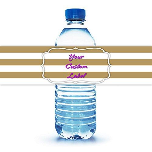 "Personalized Water Bottle Label 8""X2"""